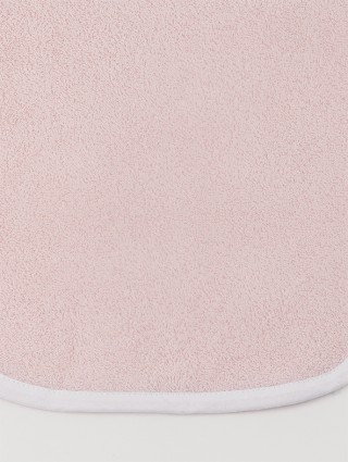 Customized baby bath towel - Pink outline white