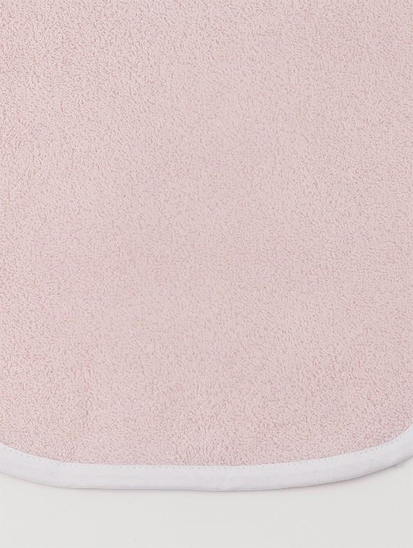 Asciugamano Baby personalizzato - Rosa profilo Bianco
