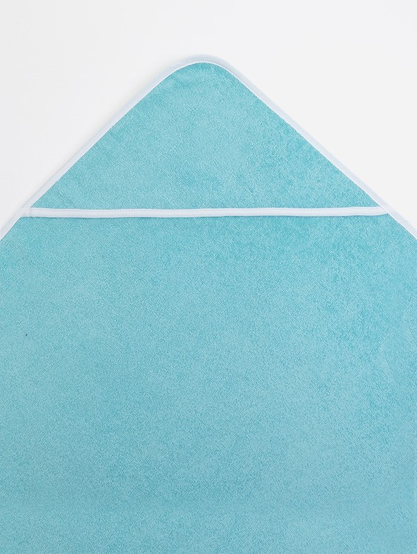 Turquoise outline white