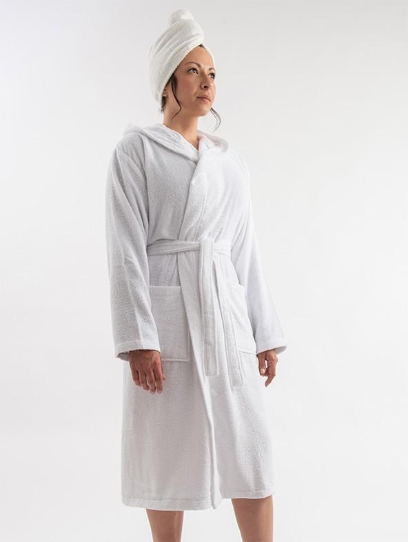 Micro terrycloth tathrobe - White
