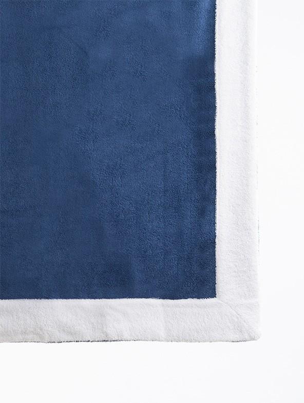 Telo lettino spugna 140x240 - Denim bordo Bianco