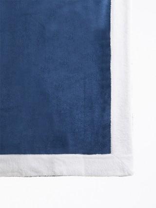 Telo sdraio con cappuccio spugna 80x150 - Denim bordo Bianco