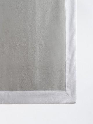 Telo sdraio con cappuccio spugna 80x150 - Perla bordo Bianco
