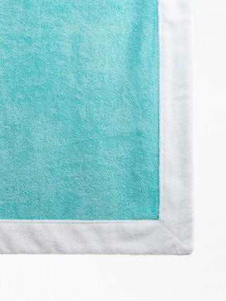 Telo sdraio con cappuccio spugna 80x150 - Tiffany bordo Bianco