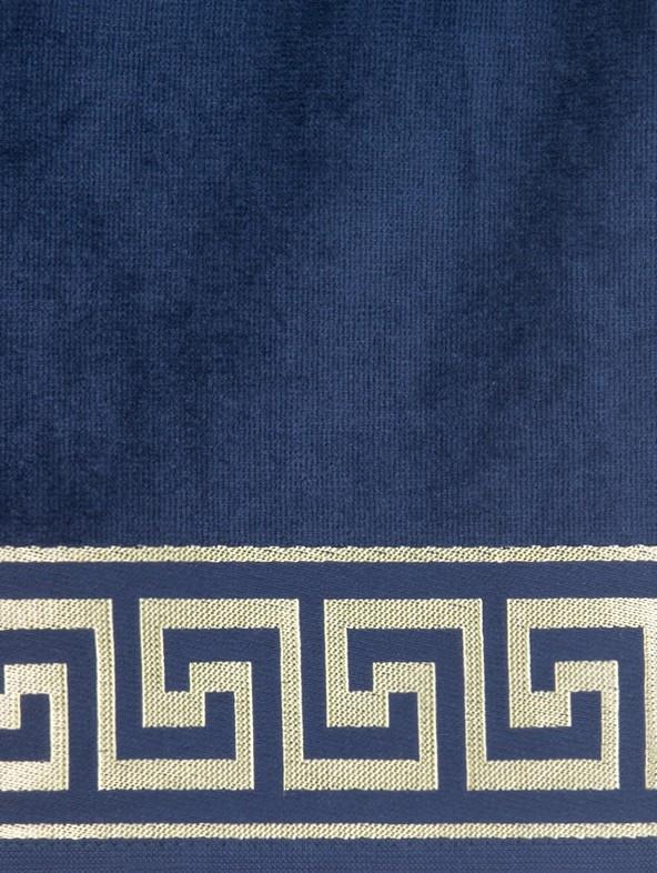 Telo mare con greca personalizzato - Blu navy