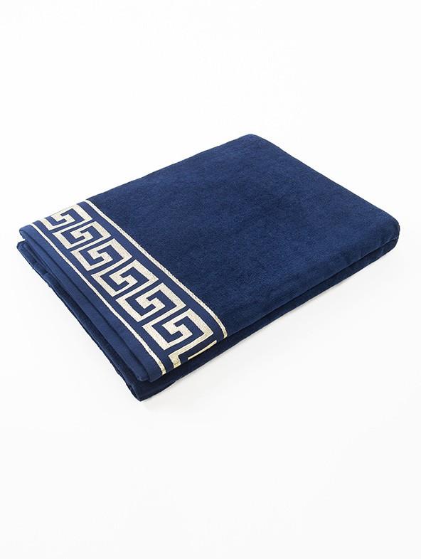Customized greek beach towel - Blue navy