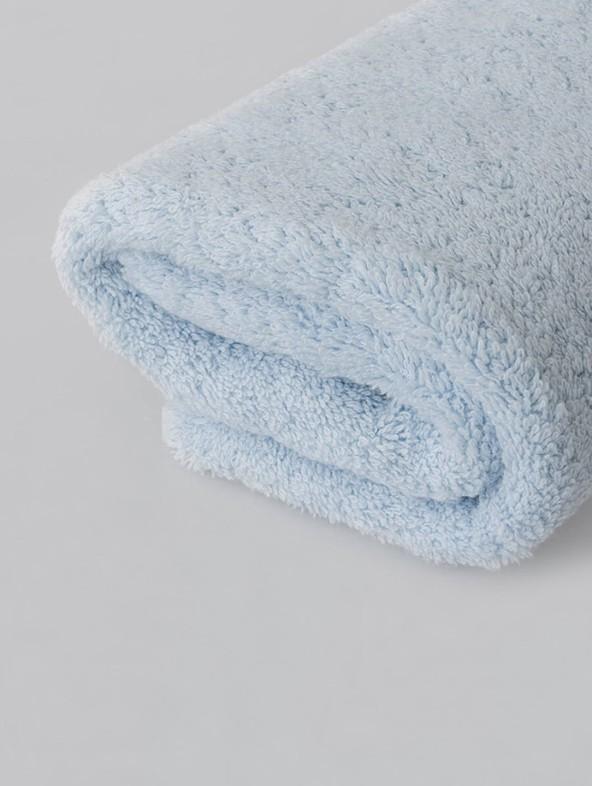 Coppia Asciugamani Spugna Premium - Azzurro-cielo