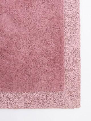 Tappeto spugna con bordo - Rosa antico bordo Rosa