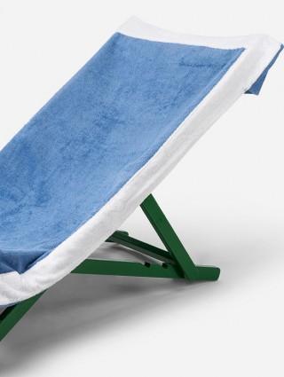 Telo sdraio con cappuccio in spugna 420 gr/mq