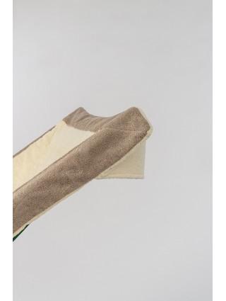Telo sdraio con cappuccio in spugna 420 gr/mq - Dettaglio cappuccio ostrica bordo tortora