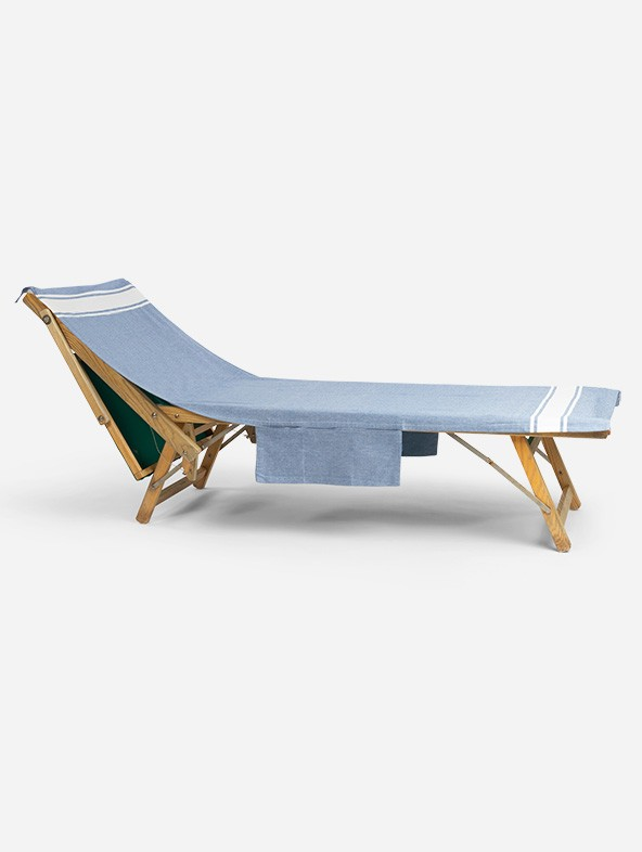 Sun lounger Fouta Classic with side pockets