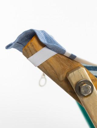Fouta lettino con tasche laterali Royal -Particolare elastico