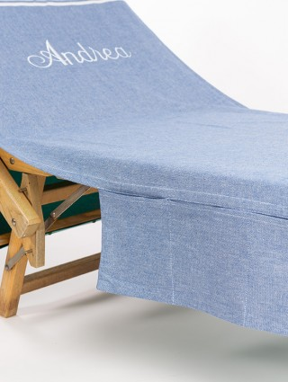 Customized Sun lounger Fouta Classic with side pockets