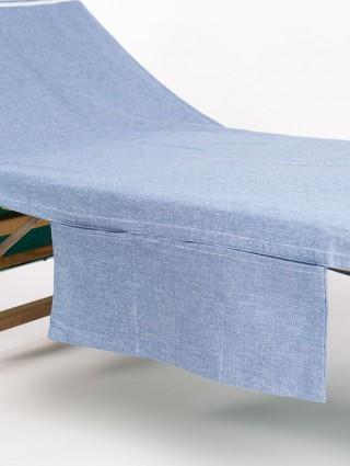 Fouta lettino con tasche laterali personalizzato - Dettaglio tasca royal