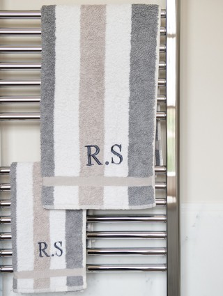 """Customized """"Design"""" Pair of Terry Towels"""