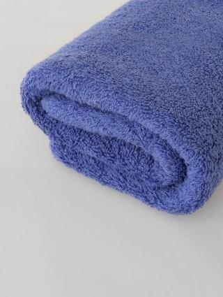 Coppia Asciugamani Spugna Premium Personalizzati -Lavanda Blu