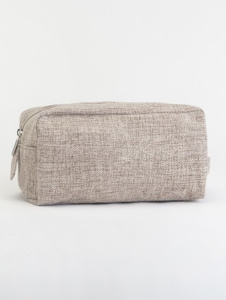 Taupe-Jute Beauty Case
