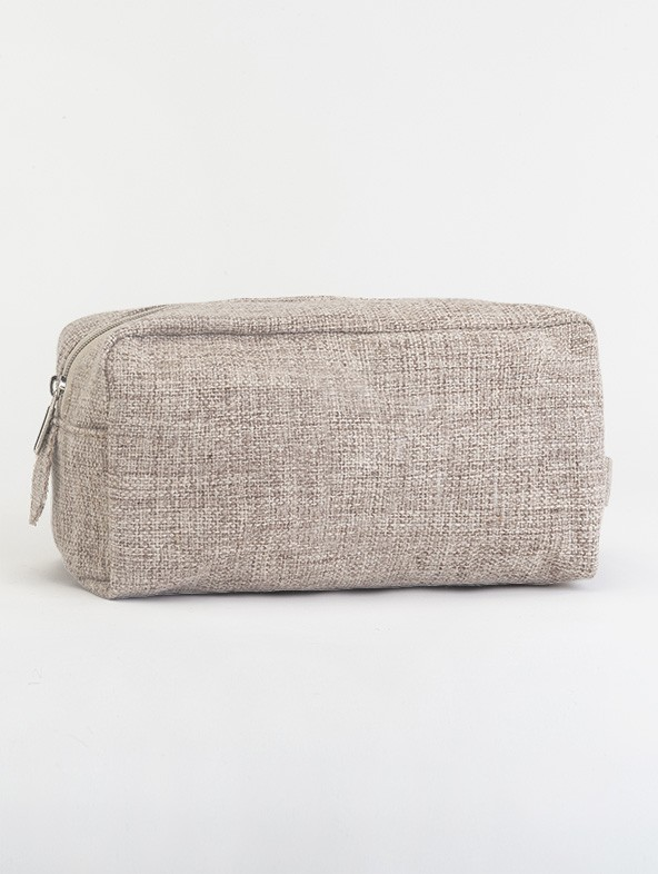 Customized Taupe-Jute Beauty Case