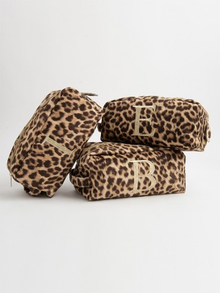 Encrypted Spotted Fabric Bauty Case
