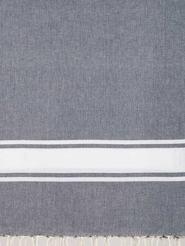Set Asciugamani Spugna con bordo Lino cifrati - A