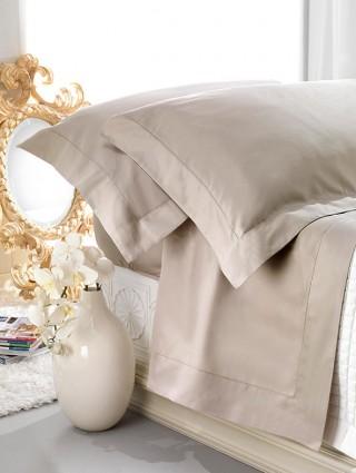 Double size Satin Cotton Bed Sheet set with A-Jour Hem