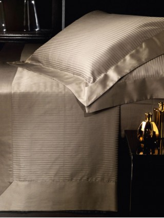 Double size Striped Cotton Satin Bed Sheet Set