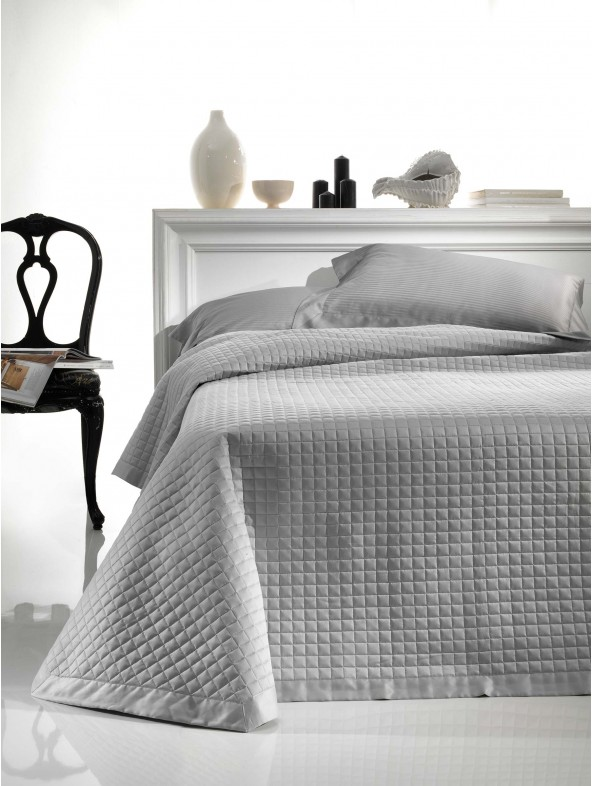 Double size Cotton Satin Quilted Bedspread - Double Face