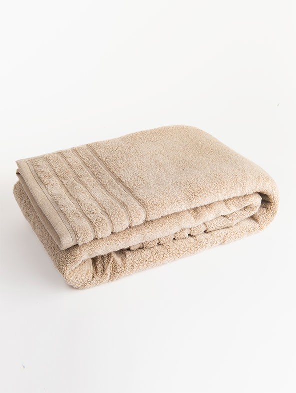 Customized Bath Towel in Waffle Piquet - Sand