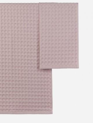 Coppia asciugamani nido d'apone - Cipria