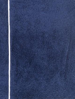 Blue outline white