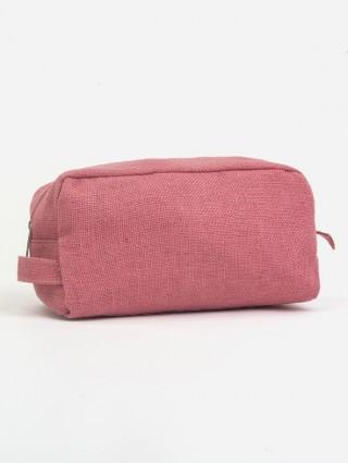 Jute Beauty Case - Pink